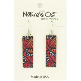Nature Cast monarch butterfly wings dangle earring