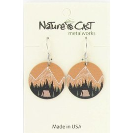 Nature Cast mountain camping dangle earring