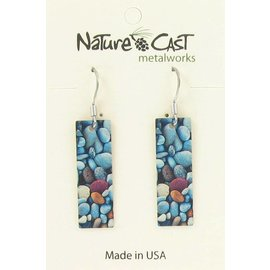 Nature Cast river rocks dangle earring