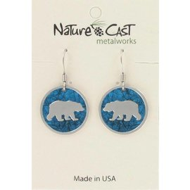 Nature Cast dangle bear with turquoise background