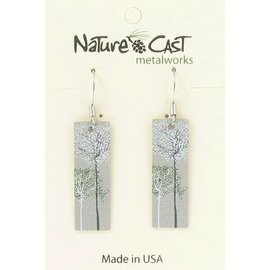 Nature Cast wispy trees dangle earring