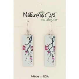 Nature Cast cherry blossom dangle earring
