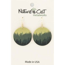 Nature Cast round layered trees earring