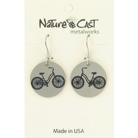 Nature Cast vintage bicycle dangle earring