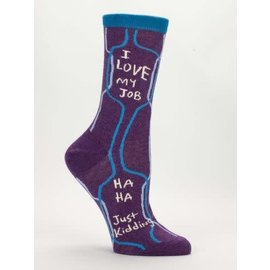 Blue Q Crew Sock - I LOVE MY JOB