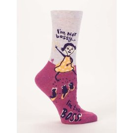 Blue Q Crew Sock - I'm Not Bossy, I'm the Boss