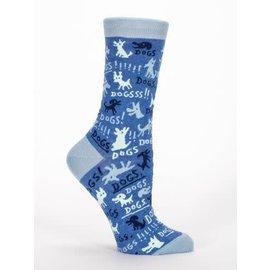 Blue Q Crew Sock - dogs