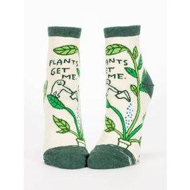 Blue Q Ankle Sock - Plants get me