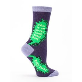 Blue Q CREW SOCK - KALE