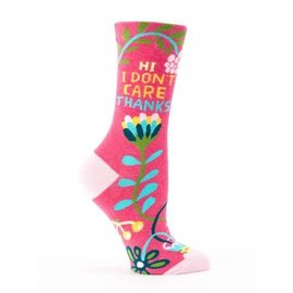 Blue Q CREW SOCK - HI, I DON'T CARE