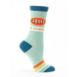 Blue Q Crew Sock - Adult in Training W