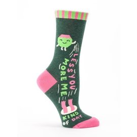 Blue Q CREW SOCK - LESS YOU MORE ME