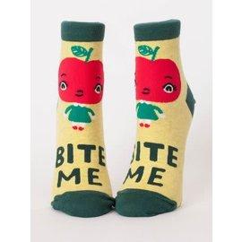 Blue Q Ankle Sock - bite me