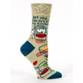 Blue Q CREW SOCK - GET THE HELL OUT