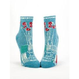 Blue Q Ankle Sock - so damn pretty