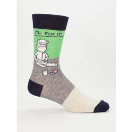 Blue Q Crew Sock - Mr Fix It