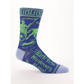 Blue Q Crew Sock - Hark! to the Microbrewery