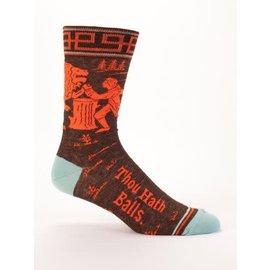 Blue Q Crew Sock - Thou Hath Balls