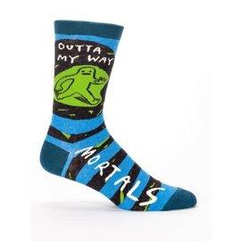 Blue Q Crew Sock - Outta My Way Mortals