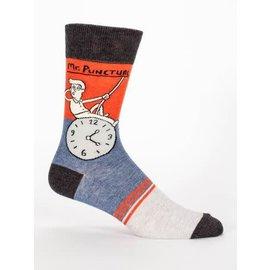 Blue Q Crew Sock - Mr Punctual