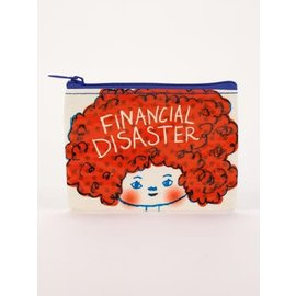 Blue Q Coin Purse - Financial Disaster