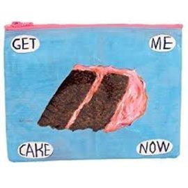 Blue Q Zipper Pouch - GET ME CAKE