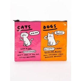 Blue Q Zipper Pouch - Cats & Dogs