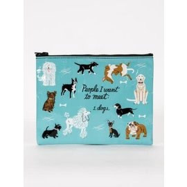 Blue Q ZIPPER POUCH - PEOPLE TO MEET: DOGS