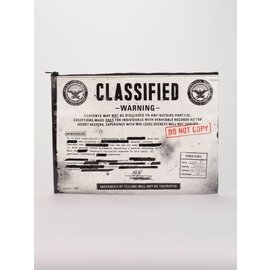 Blue Q Jumbo Pouch - Classified