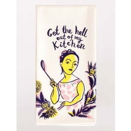 Blue Q Dishtowel - Get the hell out