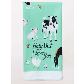 Blue Q DISHTOWEL - HOLY SHIT I LOVE YOU