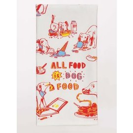 Blue Q DISHTOWEL - ALL FOOD IS DOG FOOD