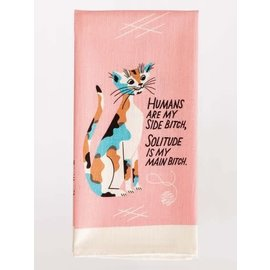 Blue Q DISHTOWEL - HUMANS ARE MY SIDE BITCH