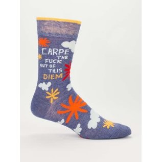 Blue Q CREW SOCK - CARPE THE FUCK OUT OF THIS DIEM