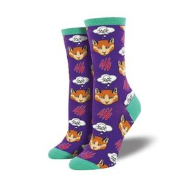 Socksmith MOODY CAT PURPLE