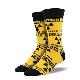 Socksmith RADIOACTIVE CAUTION YELLOW
