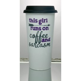 Perfectly Imperfect Coffee Mug Coffee & Sarcasm purple/turquoise
