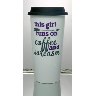 Perfectly Imperfect Coffee Mug Coffee & Sarcasm purple/turquoise