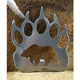 Blue Moose Metals Grizzly Bottle Opener silver color