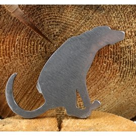 Blue Moose Metals Dog Squatting Bottle Opener silver color