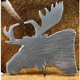 Blue Moose Metals Moose bottle opener silver color