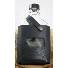 Red sky Designs Flask Black Leather with Cutout Montana