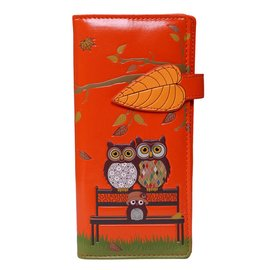 Shagwear OWLS ON PARK BENCH ORANGE