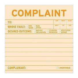 Knock Knock Sticky Note: Complaint