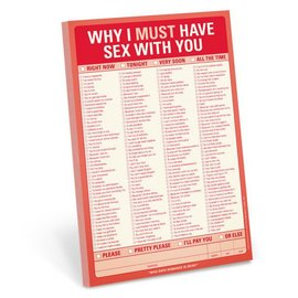 Knock Knock Pad: Why I Must Have Sex with You