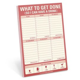 Knock Knock Pad - what to get done so I can have a drink