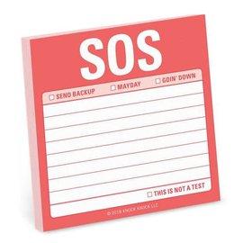 Knock Knock Sticky Note SOS