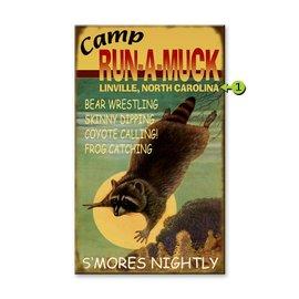 Metal Box Art Customizable Camp-Run-a Muck 18X30, metal or wood
