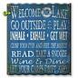 Metal Box Art Corrugated, Welcome to the Lake 29X37.5 Metal