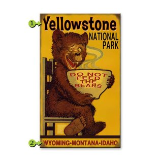 Metal Box Art Customizable Do Not Feed the Bears, 14X24  Metal or Wood